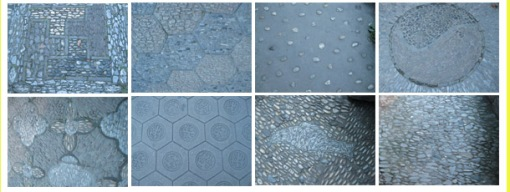 An infinate variety of handmade paving patterns