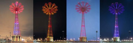 Coney Island Parachute Jump Illumination