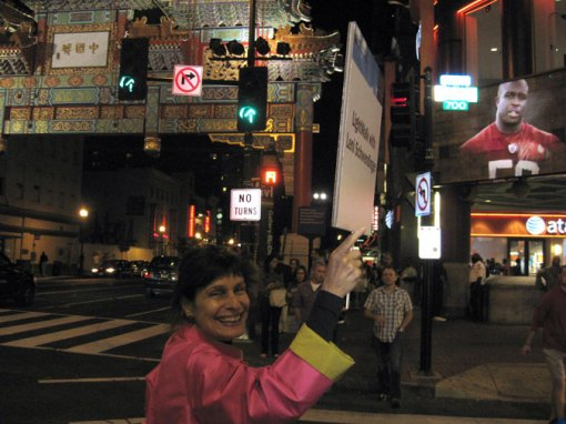 Leni Schwendinger leads a LightWalk in Washington DC