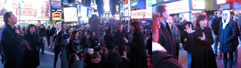 Times Square with Brown University Students