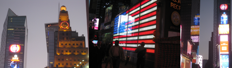 Leni Schwendinger's Times Square at Night