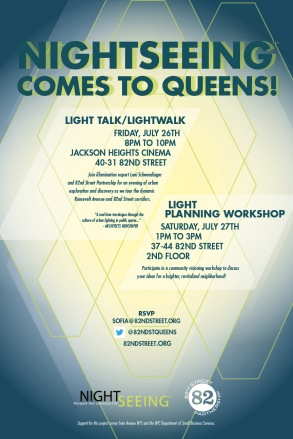 Leni Schwendinger's LightWalk in Queens